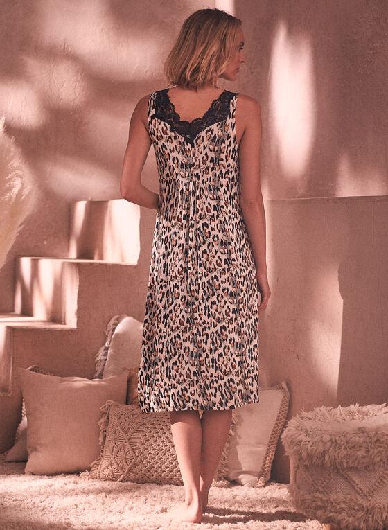 Animal Print Nightgown, Black