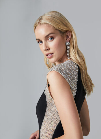 BA Nites - Beaded Dress, Black, hi-res,  fall winter 2019, jersey, evening gown