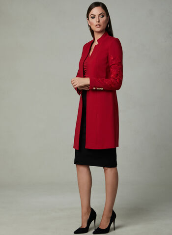 Ruched Front Blouse, Red, hi-res