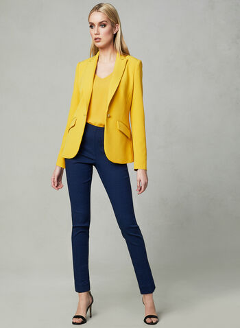 Sleeveless V-Neck Blouse, Yellow, hi-res
