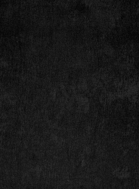 Foulard pashmina uni, Noir