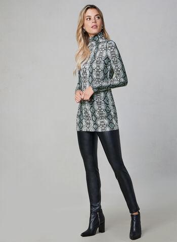 Alison Sheri - Col roulé à motif serpent, Gris, hi-res,  manches longues, motifs, motif, animal, animalier, automne hiver 2019