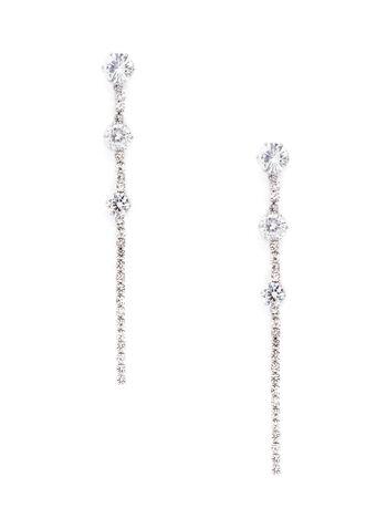 Crystal Tier Dangle Earrings, , hi-res
