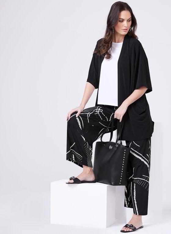 Clara Sunwoo - Pantalon pull-on gaucho à motif abstrait , Noir