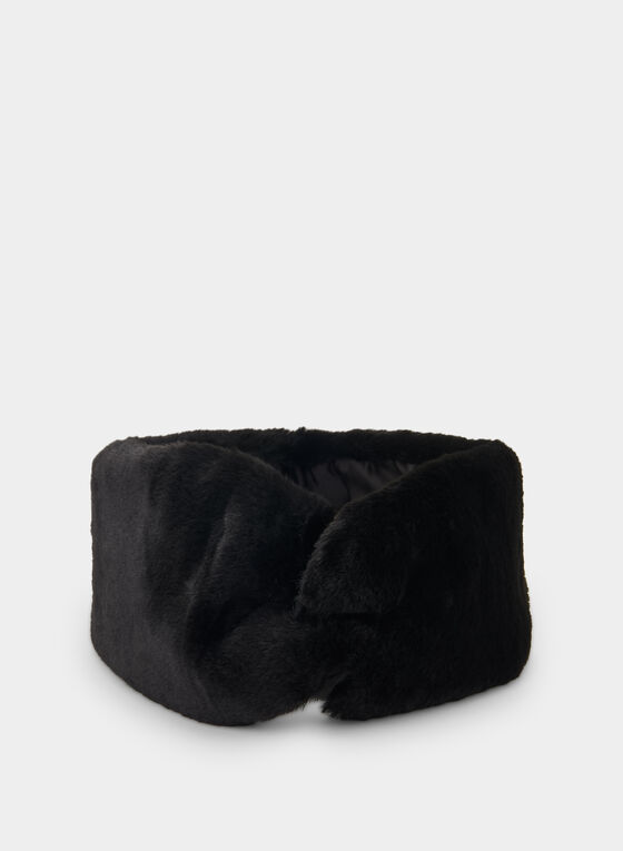 Vince Camuto - Faux Fur Headband, Black