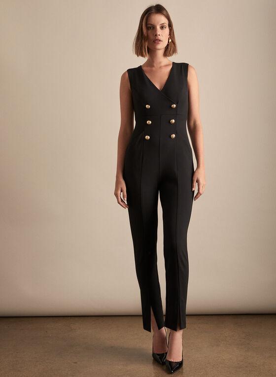 Joseph Ribkoff - Button Detail Jumpsuit, Black