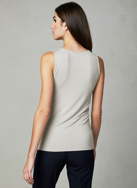 Sleeveless Jersey Top, Off White, hi-res