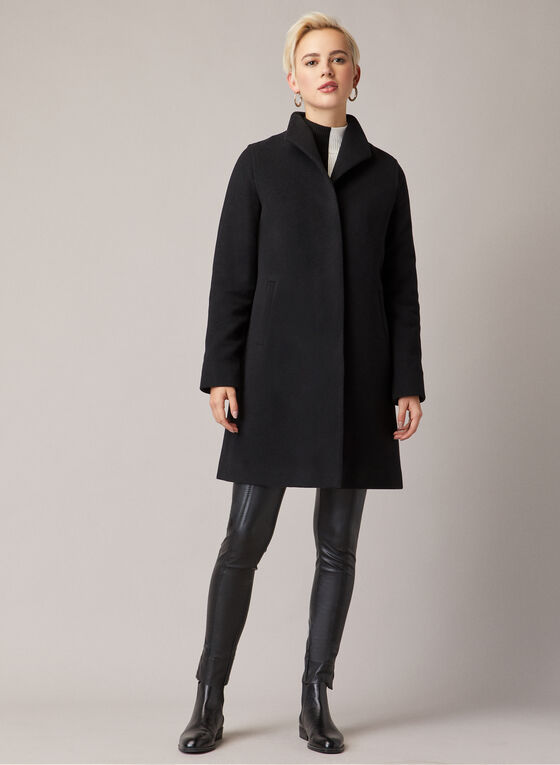 Mallia - Wool Blend Coat, Black