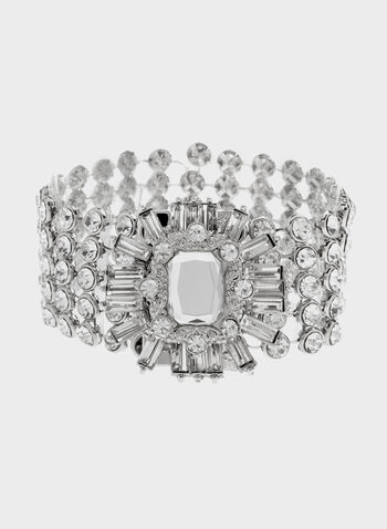 Luxurious Crystal Bracelet, Silver, hi-res