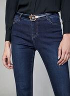 Jeans sculptant à jambe évasée, Bleu, hi-res