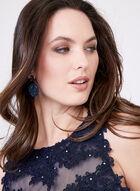 Cachet - Robe avec corsage dentelle et brillants, Bleu, hi-res