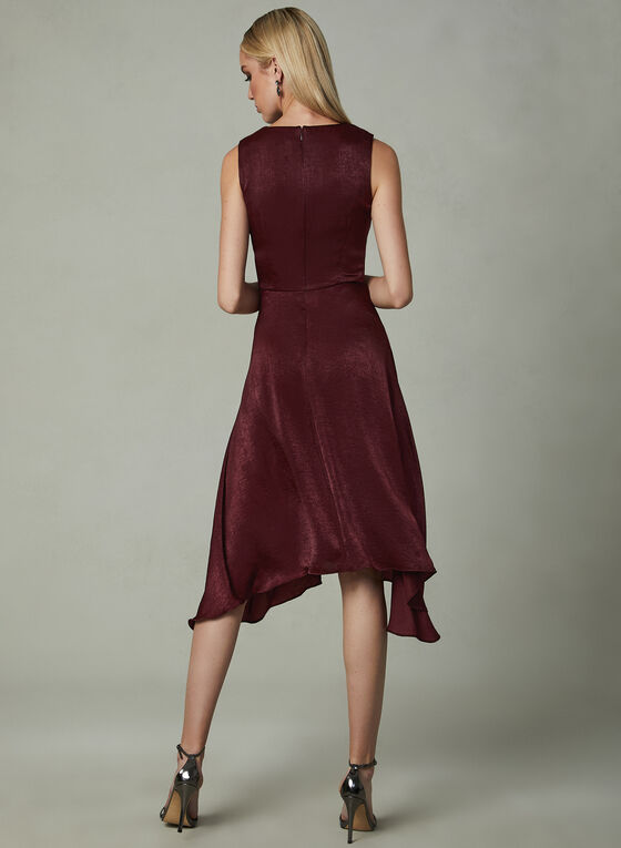 Kensie - Sleeveless V-Neck Dress, Red, hi-res