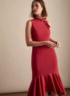 Maggy London - Robe à nœud et volants, Rouge