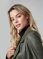 Vex - Faux Suede Jacket, Green, hi-res