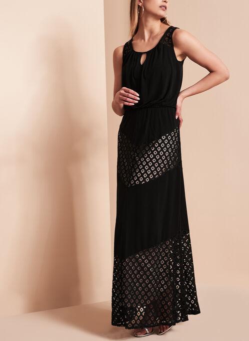 Maggy London Contrast Lace Maxi Dress, Black, hi-res