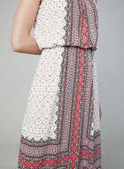Maggy London - Robe maxi à imprimé foulard, Orange