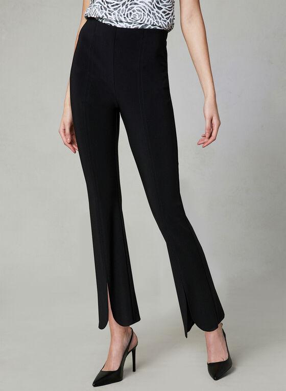 Joseph Ribkoff - Front Slit Pants, Black, hi-res