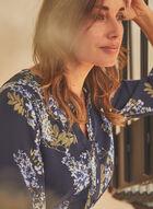 Vince Camuto - Robe cintrée et étagée à motif floral , Bleu