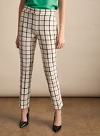 Plaid Print Amber Pants, White