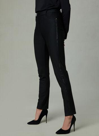 Frank Lyman - Rhinestone Detail Pants, Black, hi-res
