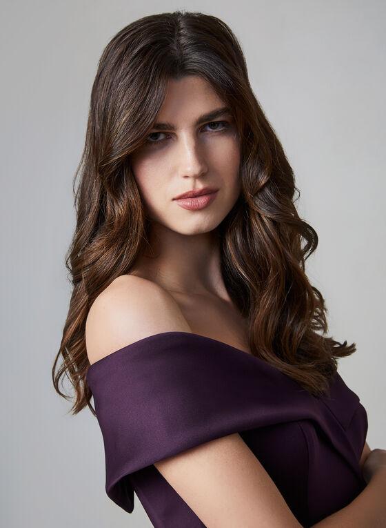 BA Nites - Off-the-Shoulder Dress, Purple, hi-res