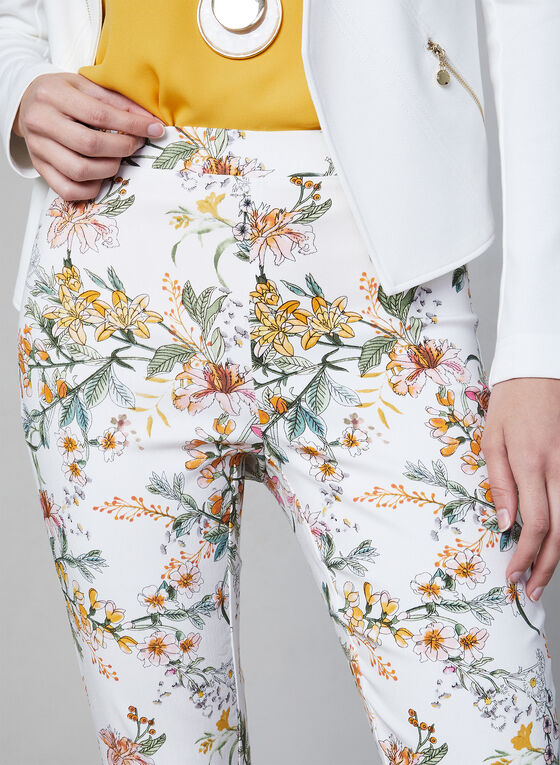 Capri à imprimé floral, Blanc