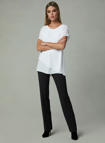 Lauren Straight Leg Pants, Black, hi-res