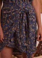 Floral Print Knot Detail Dress, Blue