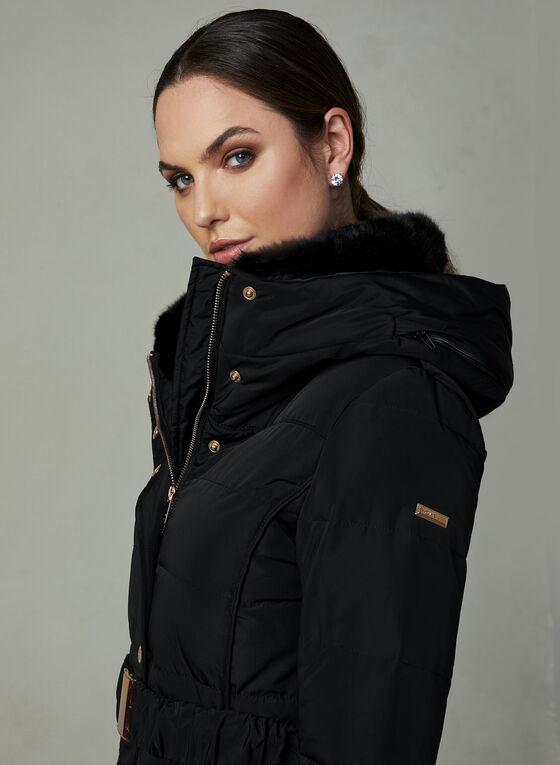 Novelti - Manteau matelassé avec ceinture, Noir, hi-res