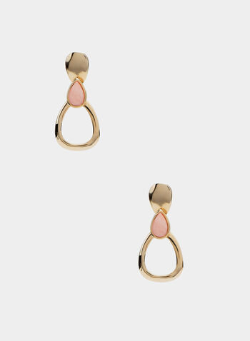 Door Knocker Earrings, Pink, hi-res