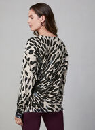 Animal Print Sweater, Brown, hi-res