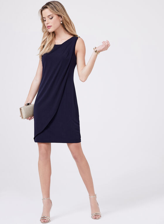 Kensie – Metal Detail Day Dress, Blue, hi-res