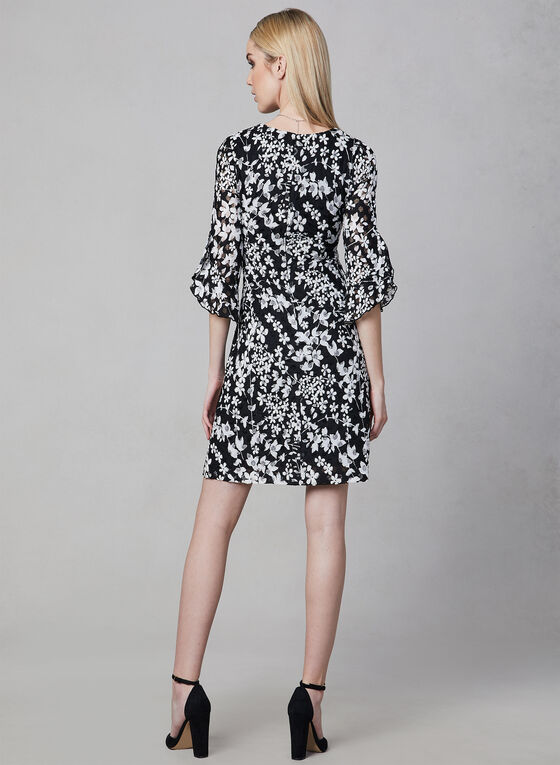 Karl Lagerfeld Paris - Floral Lace Dress, White, hi-res