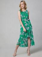 Floral Print Chiffon Dress, Green
