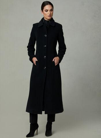 Anne Klein - Manteau long en cachemire mélangé  , Noir, hi-res