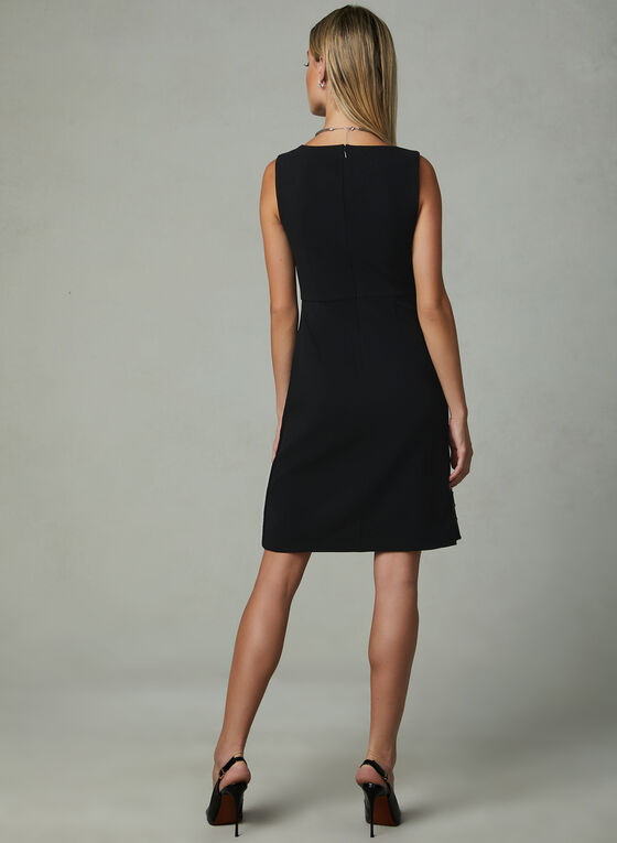 Ivanka Trump - A-Line Faux Wrap Dress, Black, hi-res