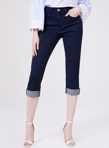 Carreli Jeans – High Rise Denim Capri Pants, Blue, hi-res