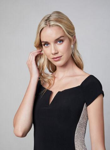 BA Nites - Off The Shoulder Dress, Black,  fall winter 2019, evening dress, jersey, long gown