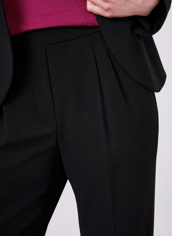 Pantalon cheville pull-on à jambe étroite, Noir, hi-res