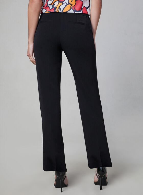 Pantalon Lauren Petite à jambe droite, Noir, hi-res