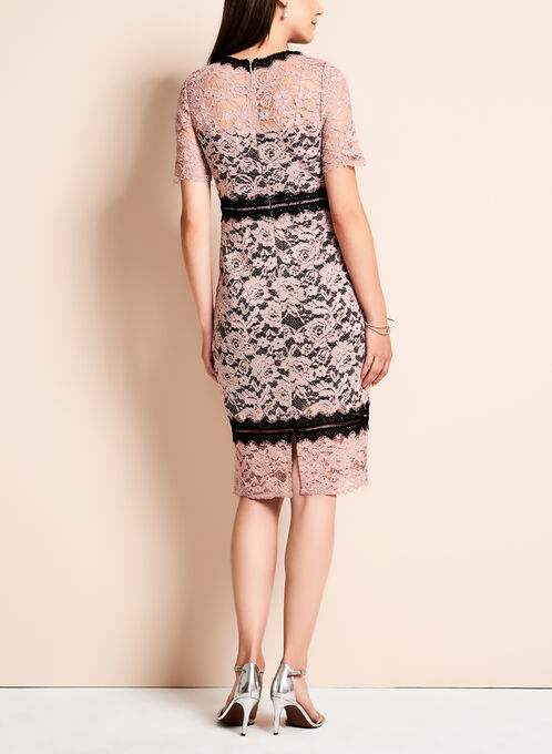 Jax - Colour Block Lace Sheath Dress, Black, hi-res