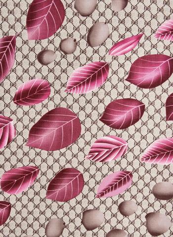 Petal Print Scarf, Pink,  rose, floral print, fall 2019, winter 2019