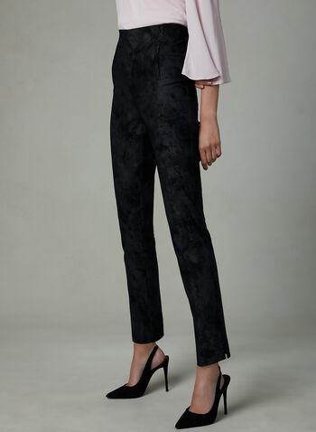 Frank Lyman - Watercolour Print Slim Leg Pants, Black, hi-res