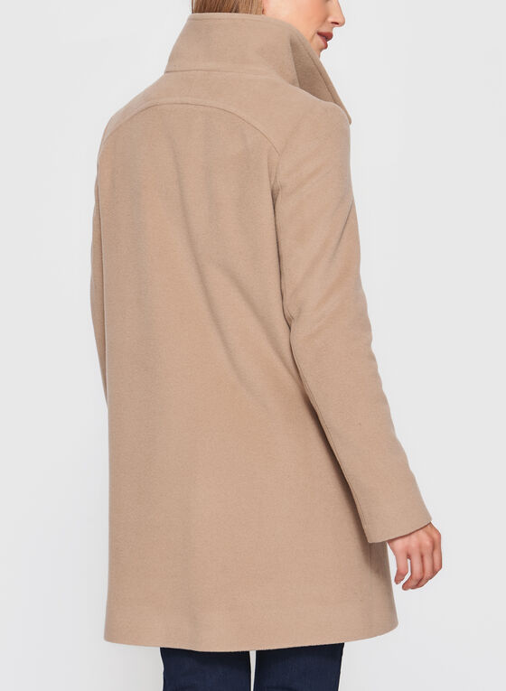 Mallia - Wool Blend Coat, Brown, hi-res