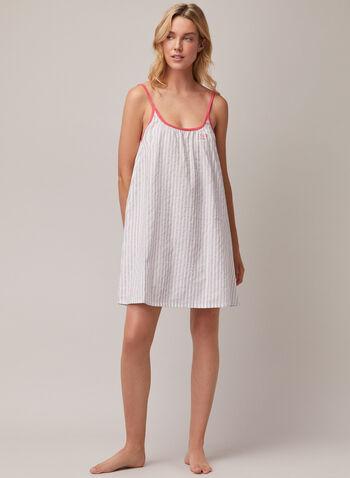 Chemise de nuit à fines bretelles, Gris,  pyjama, chemise de nuit, fines bretelles, printemps été 2020