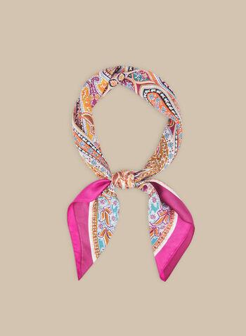 Paisley Print Silk Scarf, Multi,  scarf, silk, paisley, spring summer 2020