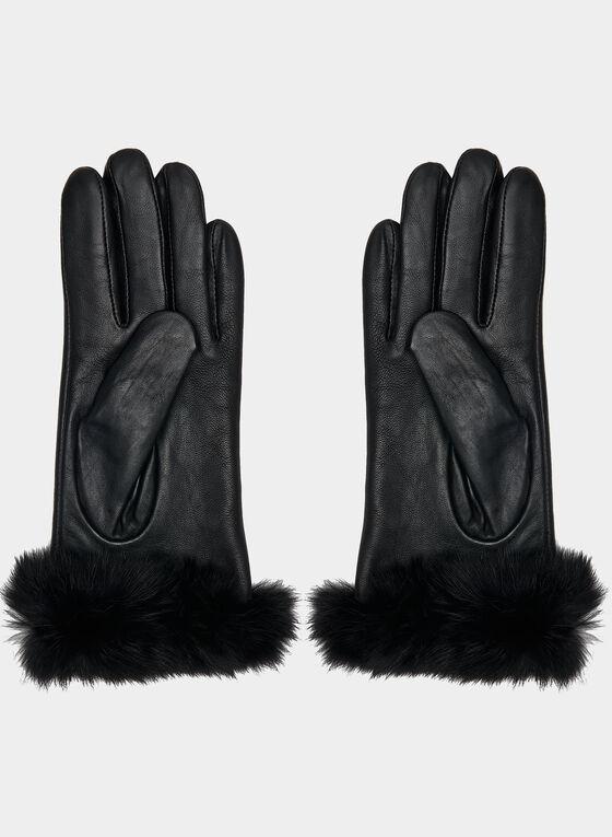 Sheep Leather Gloves, Black