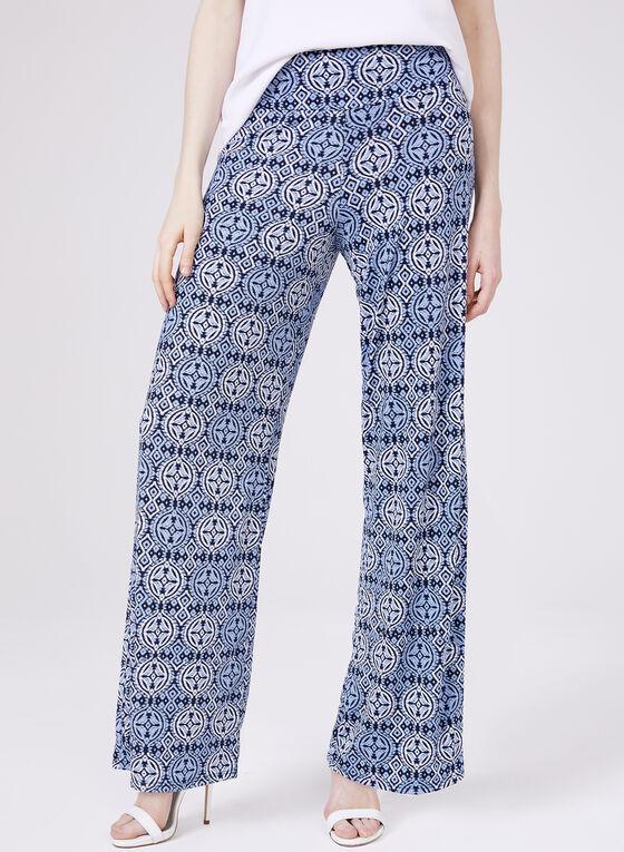 Ariella - Wide Leg Pull-On Pants, Blue, hi-res