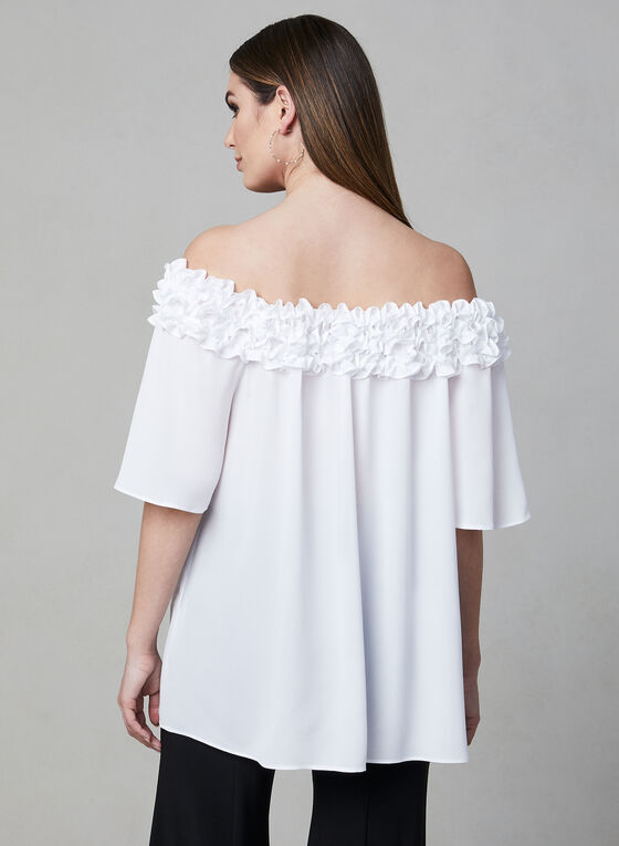 Joseph Ribkoff - Off-the-Shoulder Blouse, Off White, hi-res