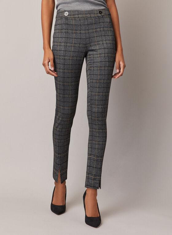 Tartan Print Amber Pants, Grey